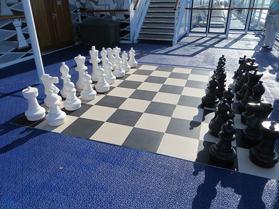 Kind of a neat big chess set.  I don't know if anyone actually used it, but it looks good!