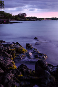 Lava rocks at sunset - Anaehoomalu Bay - Hawai'i