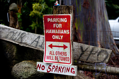 the hawaiians aren't very receptive to tourists