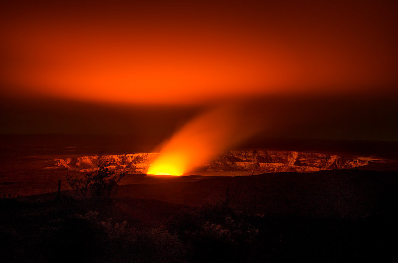 Halemaumau Crater at night - it was a beautiful sight