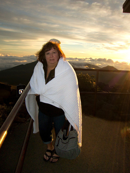 Freezing sunrise at Mt. Haleakala <i>Maui, Hawaii</i>