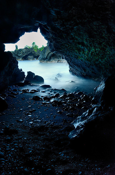A view of the sea<br /> <br /> Sea cave at Wa'ianapanapa, Hana...The light in this cave was fantastic...