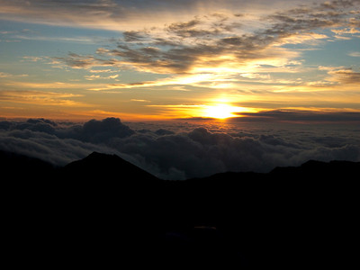 Sunrise over the clouds, Mt. Haleakala Maui, Hawaii