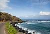 The coast road.  We drove around the entire island of Molokai.