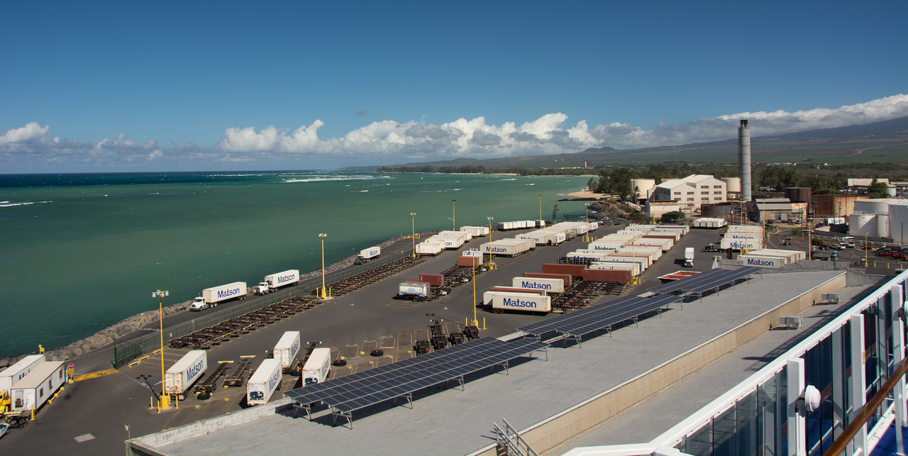 Container terminal at Maui