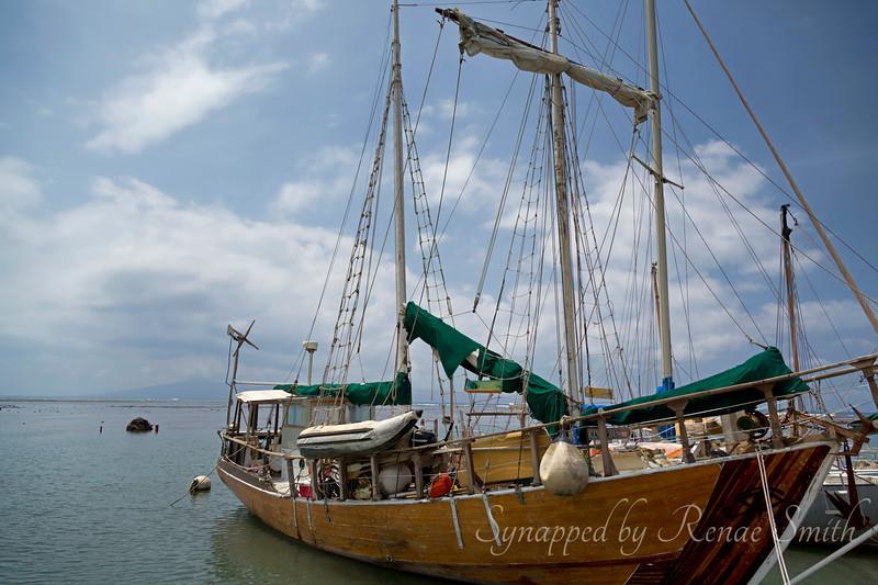A cool sailboat at the harbor