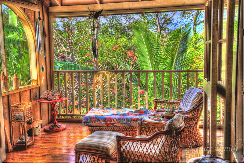 Our friends' lanai is the most inviting place I've ever seen!  I did an HDR Photoshopping job on it =)<br /> <br /> My first attempt at HDR.  I didn't do as well as I had hoped, but it was fun.