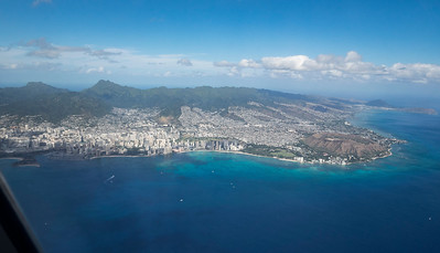 Honolulu and Diamond Head from the air