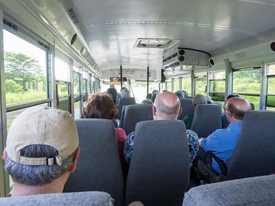 On the van to Kilauea
