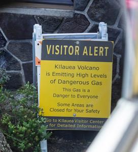 Welcoming sign at Kilauea