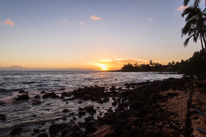 Sunset near Spouting Horn