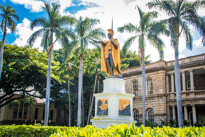 Statue of King Kamehameha - Honolulu