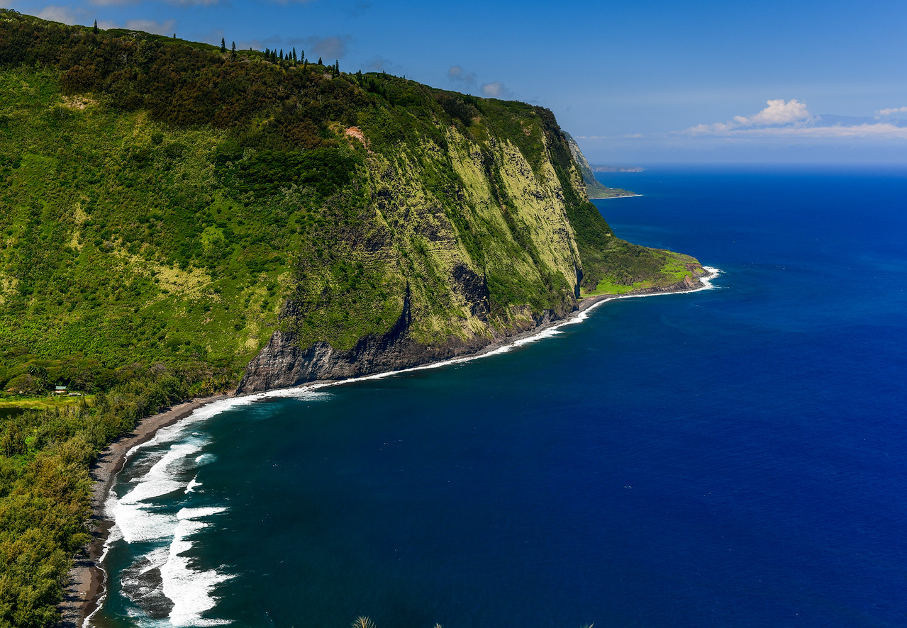 View from Waipi'o Valley Overlook on the Big Island, HI - March 2018