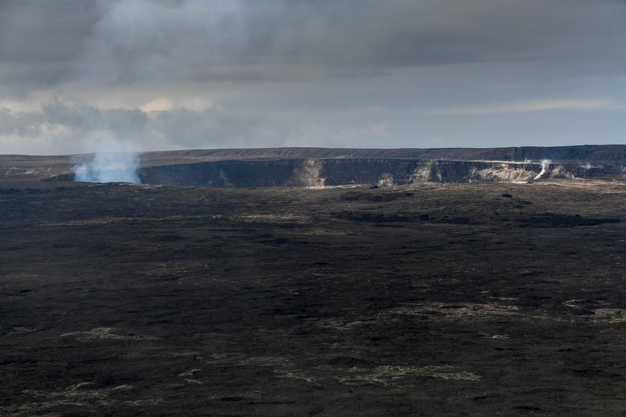 Steam and sulfurous gasses rising from the Halema'uma'u Crater inside the Kiluea Caldera, Big Island, HI - March 2018