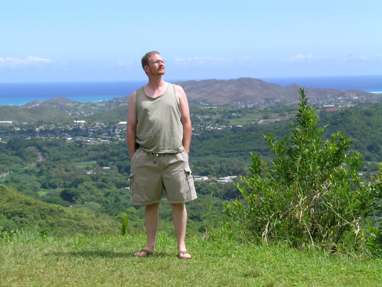 Allen looking out at the Pali Lookout