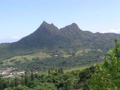 One of the views from the Pali Lookout
