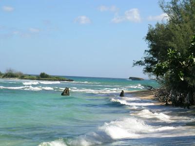 Malaekahana State Recreation area beach.