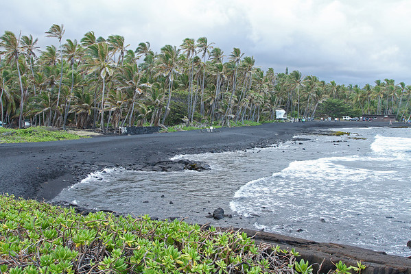 Punalu'u Black Sand Beach, The Big Island Of Hawaii