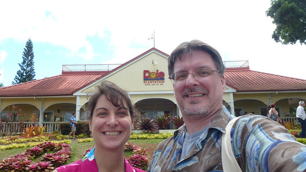 Outside the Dole Plantation.