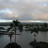 View from the balcony of room 444 of the Hilo Hawaiian Hotel.