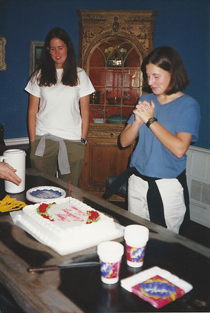 Uncle Rex had a bifthday cake for Lauren 1/1/1999 (he also had black-eyed peas)