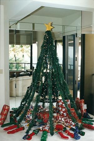 Homemade Christmas tree & stockings- Hawaii 12/98