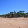PAT TAKING A WALK DOWN THE BEACH
