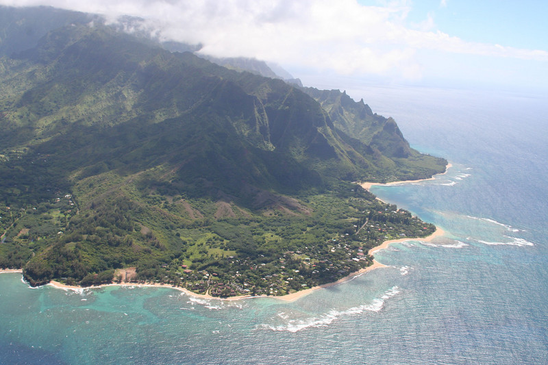 looking back towards Tunnels Beach, Ke'e and the Na Pali coast