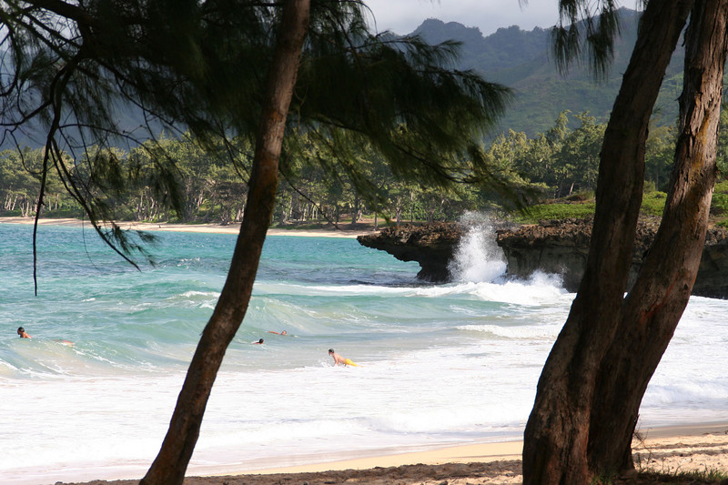 Pounder's Beach, on the Windward side of Oahu