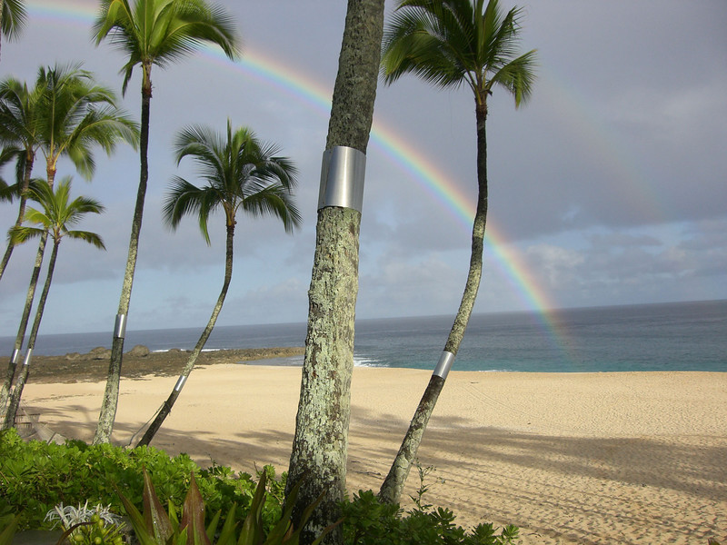 Another rainbow, this one at our beach at Ke Iki