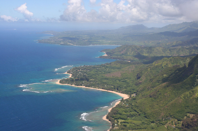 Ke'e Beach (1st reef), Ha'ena State Park Beach, Tunnels Beach (2nd reef), Lumanai Beach, Hanalei Bay
