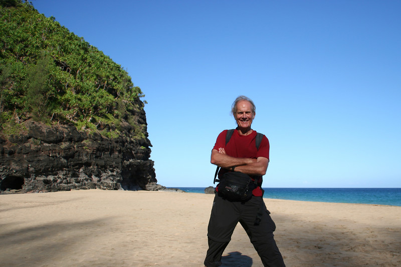 Hanakapi'ai Beach, 2 miles from Ke'e beach via the Kalalau Trail