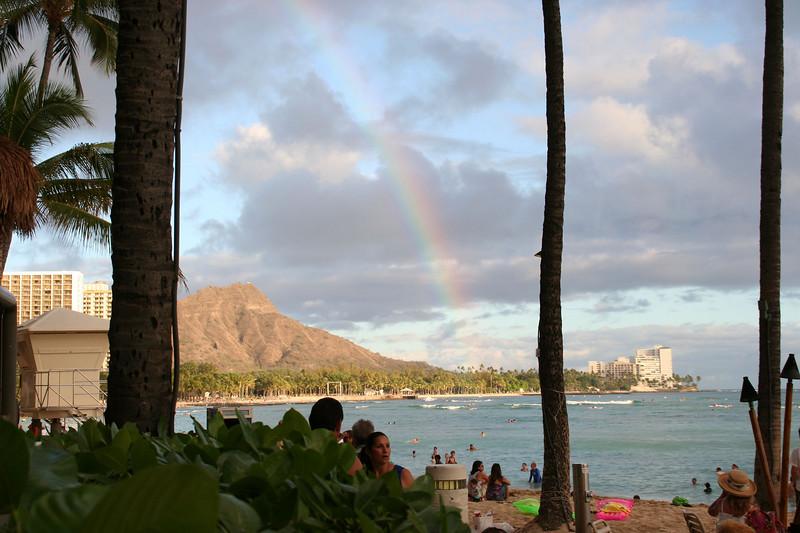 Rainbow from Duke's Bar on Wakiki