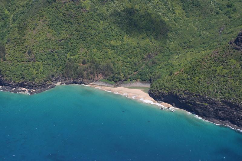Hanakapi'ai Beach.  This is the beach I hiked to, 2 miles from Ke'e Beach via the Kalalau Trail.