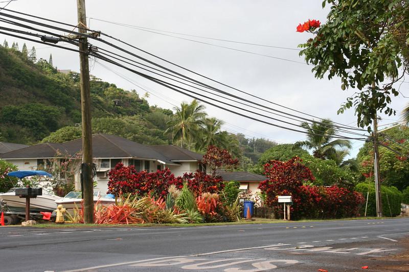 Ke Iki neighborhood, Kam Highway, North Shore, Oahu