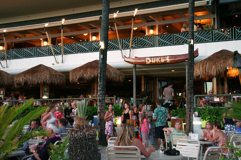 Duke's Bar & Grill, next door to the Royal Hawaiian.  We had almost given up on Wakiki, until Linne's tip to hit this spot.