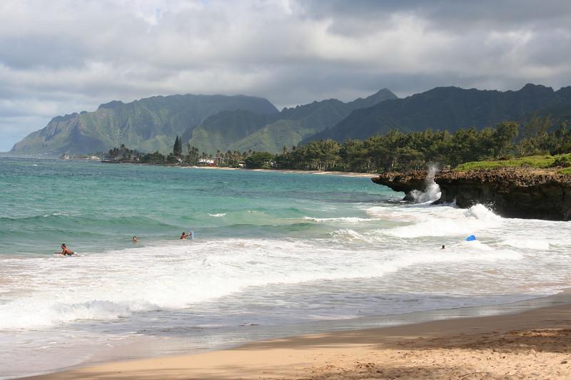 Pounder's Beach, on the Windward side of Oahu
