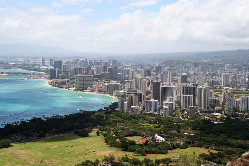 Honolulu and Wakiki from Diamond Head