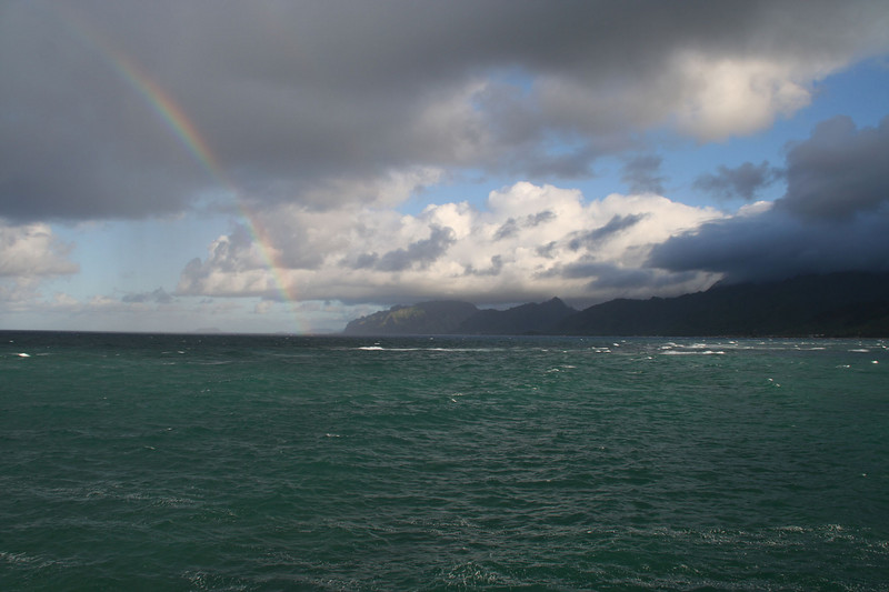 from La'ie Point, looking south