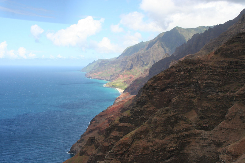 Na Pali coast from the 'copter