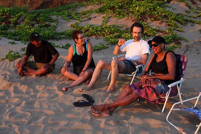 Ed, Alvina, Louis, and Paula, sunset Kihei, Maui