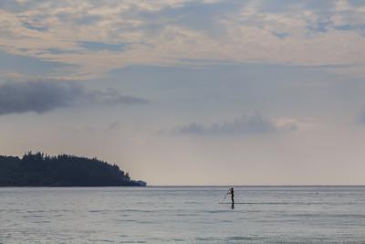 Paddleboarding in Hanalei Bay