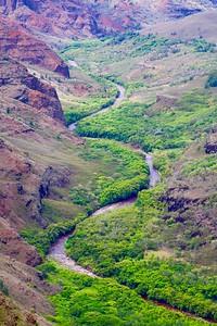 Lower Canyon Lookout @ Waimea Canyon Drive. Kaua'i, Hawaii, USA.
