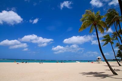 Ala Moana Beach, Honolulu. O'ahu, Hawaii, USA.