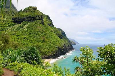 Hanakaoia'i Beach @ Nā Pali Coast State Park. Kaua'i, Hawaii, USA.