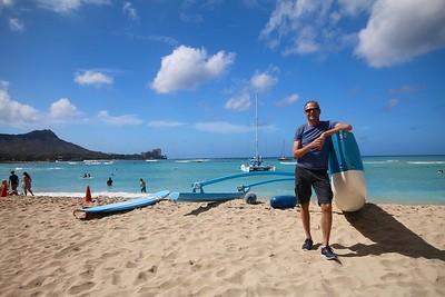 The Outrigger Canoe @ Waikiki Beach. Honolulu, O'ahu, Hawaii, USA.