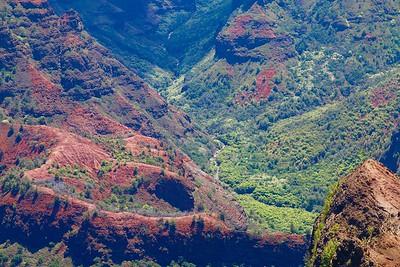 Waimea Canyon Lookout. Kaua'i, Hawaii, USA.