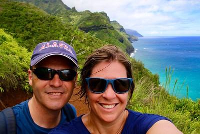 Just the 2 of us @ Nā Pali Coast State Park. Kaua'i, Hawaii, USA.
