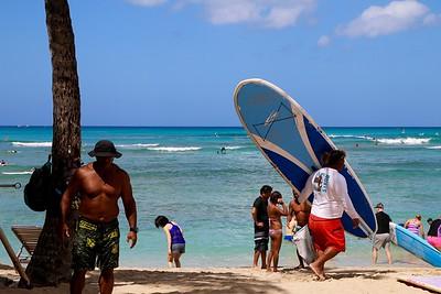 Surfdudes @ Waikiki Beach. Honolulu O'ahu, Hawaii, USA.