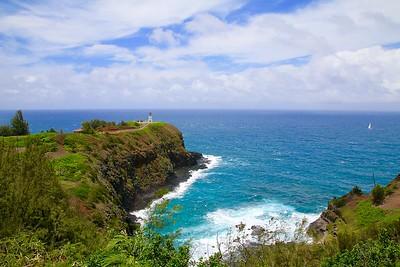 Kilauea Lighthouse @ Kilauea Point. Kaua'i, Hawaii, USA.